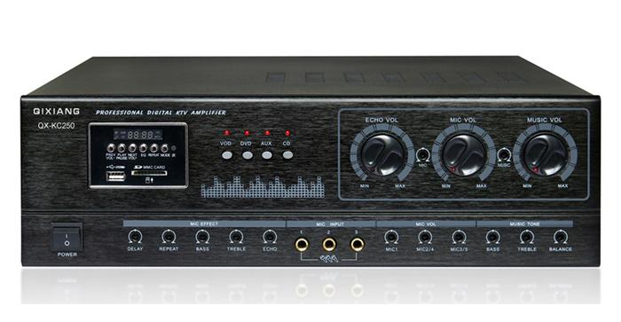 产品说明 详细参数 kc系列卡包功放 采用了m65831数字混响延迟处理